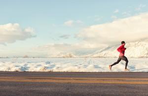 background landscape running man